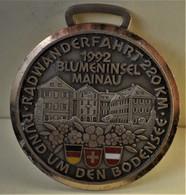 Rare Médaille Marathon à Vélo Sur Bodensee 220 Km En 1992 Diamètre: 6 Cm-èèè__ - RFT