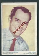 Affichette De Cinéma Offerte Par Le Cinéma Roxy. Eddie Constantine. Photo Chévert. Publicités Liégeoises Au Dos. 2 Scan - Posters