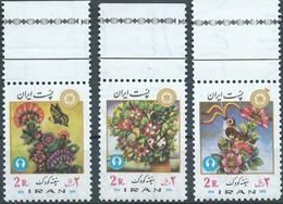 PERSIA IRAN PERSE 1976 Flower And Birds , MNH -Scott 1920/22 - Iran