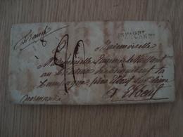 ENVELOPPE DE GILBRALTAR 6 FEVRIER 1815 NORMANDIE - 1801-1848: Voorlopers XIX