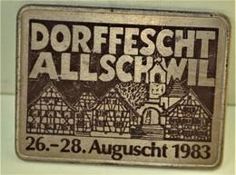Rare Médaille Suisse Dorffescht Allschwil 26-28 Auguscht 1983 - Altri Paesi