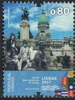 Portugal 2017 Oblitéré Used Lisbonne Capitale Ibero Américaine Culture Palais Congrès Buenos Aires SU - 1910 - ... Repubblica