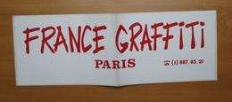 Autocollant Sticker Publicité 49 X 17 Cm France Graffiti Paris 21ADH19 - Stickers