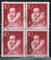 (E 807) ESPAÑA // YVERT 822  // EDIFIL 1072 BLOC 4 TIMBRES  // 1950-53 - 1931-Aujourd'hui: II. République - ....Juan Carlos I