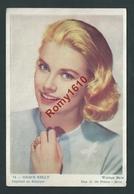 Affichette De Cinéma Offerte Par Le Cinéma Roxy. Grace Kelly. Warner Bros. Pub. Liégeoises Au Dos. 2 Scans. - Posters