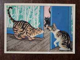 L21/697 Gilles Bachelet. Illustrateur De Littérature De Jeunesse. Chats - Contemporain (à Partir De 1950)