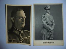 4 Cartes De Propagande Allemande 1939/45 Chancelier Hitler Keitel Raider Ecrite Par Un Francais En 1943 - Duitsland