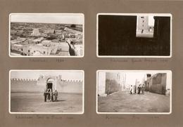 Lot De 8 Photographies De Tunisie, Kairouan, Remparts, Mosquée Des Sabres, Rue, Porte De France, Photos De 1934 - Afrique
