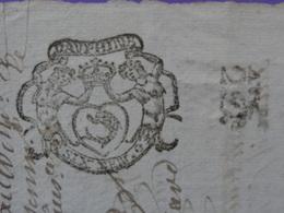 1692 Dauphiné (Isère) Papier Timbré N°67 De Six Deniers Avec Aug. De 2D 1/4 De Feuille Commune De Vienne Belle Gravure - Seals Of Generality