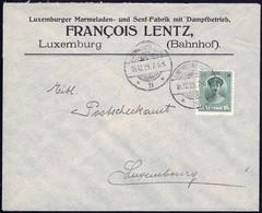 Lettre Commerciale: Francois Lentz, Luxemburger Marmeladen... 15.12. 1923, Michel 2019: 128 - Luxembourg