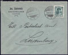 Lettre Commerciale: Jos. Steinmetz Grevenmacher, 16.12. 1923, Michel 2019: 128 - Luxembourg