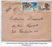 Congo Lettre Sibiti 1969 Cover Athlétisme JO Mexico - Congo - Brazzaville