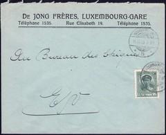 Lettre Commerciale: De Jong Frères, Luxembourg-Gare 15.12. 1923, Michel 2019: 128 - Luxembourg