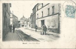 95 CPA DEUIL LA BARRE Rue De La Mairie - Deuil La Barre