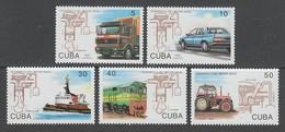 SERIE NEUVE DE CUBA - 80E ANNIVERSAIRE DE LA MORT DE RUDOLF DIESEL N° Y&T 3277 A 3281 - Trasporti