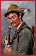 """CPA AK Illustrateur Oscar GRAEF Allemagne Bavière MÜNCHEN """"Ich Komme Vom Gebirge Her"""" Tuck's Postkarte Oilette Série 865 - Muenchen"""