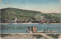 AK Nagy Maros Nagymaros Freistadt Komp Fähre Bac Ferry Österreich Ungarn Magyarorszag Hongrie Hungaria Stempel Wahren - Ungarn