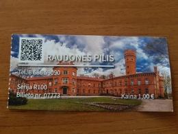Lithuania Litauen Ticket Raudones Castle 2019 - Tickets - Entradas