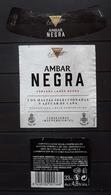 JUEGO DE 3 ETIQUETAS CERVEZA AMBAR NEGRA - LA ZARAGOZANA - ESPAÑA. - Cerveza