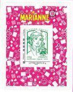 France Marianne De Ciappa Et Kawena Autoadhésif N°  864.A -  Lettre Verte 3D   Ou 936 (Maury) - 2013-... Marianne De Ciappa-Kawena