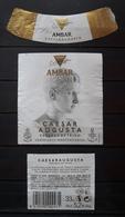 JUEGO DE 3 ETIQUETAS CERVEZA AMBAR CAESARAUGUSTA - LA ZARAGOZANA - ESPAÑA. - Cerveza