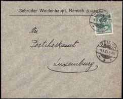 Lettre Commerciale: Gebrüder Weidenhaupt, Remich, 4.8.1924, Michel: 128 - Luxembourg