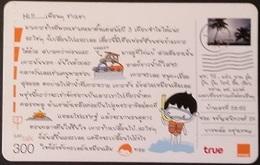 Mobilecard Thailand - Orange  / True -  Postkarte (10) - Briefmarke - Tauchen - Auto - Thaïland