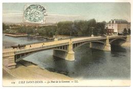 Dept 93. L'ILE SAINT-DENIS. Le Pont De La Garenne. Petite Animation +. - L'Ile Saint Denis