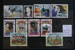 Färöer Inseln 1994  4 Sätze Gestempelt Hunde, Tanzlieder Und Brauchtum  Mi-Nr.262-271 - Faroe Islands