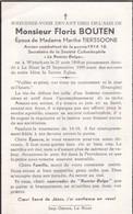 Wijtschate, Wytschate, Le Bizet, 1959, Floris Bouten, Tierssoone - Images Religieuses