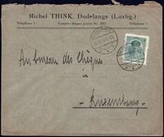 Lettre: Michel Think, Dudelange, 20.2.1924, Michel: 128 - Luxembourg