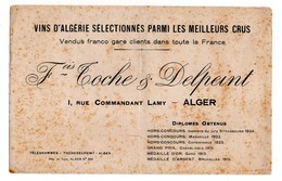 BUVARD - VINS D'ALGERIE - TOCHE & DELPEINT - ALGER - - Buvards, Protège-cahiers Illustrés