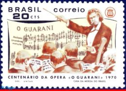 Ref. BR-1155 BRAZIL 1970 MUSIC, OPERATES 'O GUARANI',, CENTENARY, THEATRE, MI# 1249, MNH 1V Sc# 1155 - Neufs