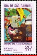 Ref. BR-1173 BRAZIL 1970 PAINTINGS, ST. GABRIEL'S DAY, PATRON, SAINT OF COMMUNICATIONS, MI# 1267, MNH 1V Sc# 1173 - Brasilien