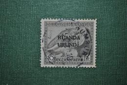 Ruanda-Urundi 1924 Oblitéré Papier Sale - Ruanda-Urundi