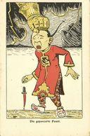 China, BOXER REBELLION, Caricature, Armored Fist Hits Chinese Man (1899) Postcard - China