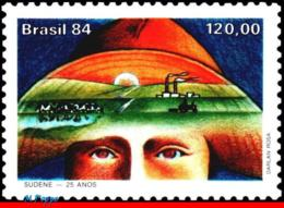 Ref. BR-1969 BRAZIL 1984 AGRICULTURE, SUDENE, NORTH-EASTERN, DEVELOPMENT, TRACTOR, FARM, MNH 1V Sc# 1969 - Brésil
