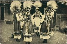 Bulgarien (allgemein) Trachten/Typen (Bulgarien) Frauen Federschmuck 1916 - Bulgarien