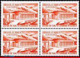 Ref. BR-832-Q BRAZIL 1956 ELECTRICITY, HYDROELECTRIC DAM, SALTO, GRANDE, MG, MNH 4V Sc# 832 - Brésil