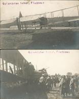Fieldpost 2 Cards Hostile Aircraft Feindl.Flugzeug He36 - Oorlog 1914-18