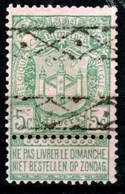 """Belgique - Timbre De 1894 COB 68 Oblitération Roulette """"caisse D'épargne"""" - 1894-1896 Expositions"""