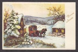 97005/ NOUVEL AN, Chevaux, Attelage, Village - Nouvel An