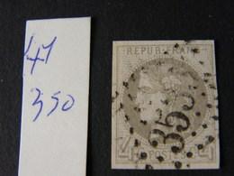 Bordeaux No 41 Signe Calves - 1849-1850 Ceres