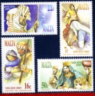 Ref. M1-1144-47 MALTA 2003 CHRISTMAS, RELIGION,, MI# 1310-1313, SET MNH 4V Sc# 1144-1147 - Malte