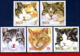 Ref. M1-1153-57 MALTA 2004 ANIMALS, FAUNA, CATS,, MI# 1319-1323, SET MNH 5V Sc# 1153-1157 - Malte