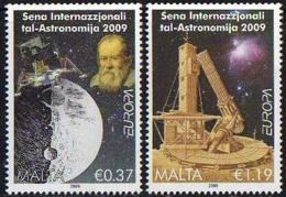 Ref. M1-V2009-02 MALTA 2009 ASTRONOMY, EUROPA, SET MINT MNH V - Malte