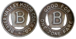 02690 GETTONE TOKEN JETON TRASPORTI TRANSPORTPENNSYLVANIA, BEAVER FALLS, 1950 - Estados Unidos