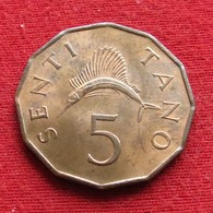 Tanzânia 5 Senti 1966 KM# 1 Tanzanie - Tanzanía