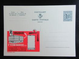 ENTIER CP PUBLIBEL 1566 . FRIGIDAIRE . Ets R.VAN MARCKE . TOONZALEN .   . NEUF - Publibels