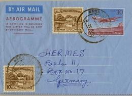1966 PAKISTÁN , AEROGRAMA CIRCULADO , KARACHI - BERLIN - Pakistán
